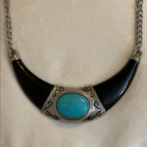 Jewelry - Black/Turquoise/Silver Necklace